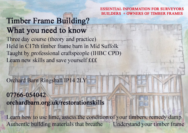 Timber Frame Restoration Skills course poster