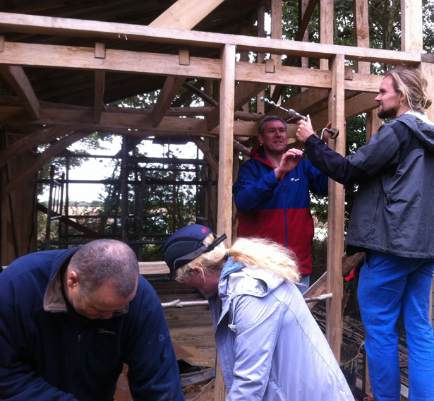 Learn how to build with local trees at Orchard Barn